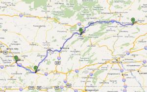 Bloomsburg to New Stanton